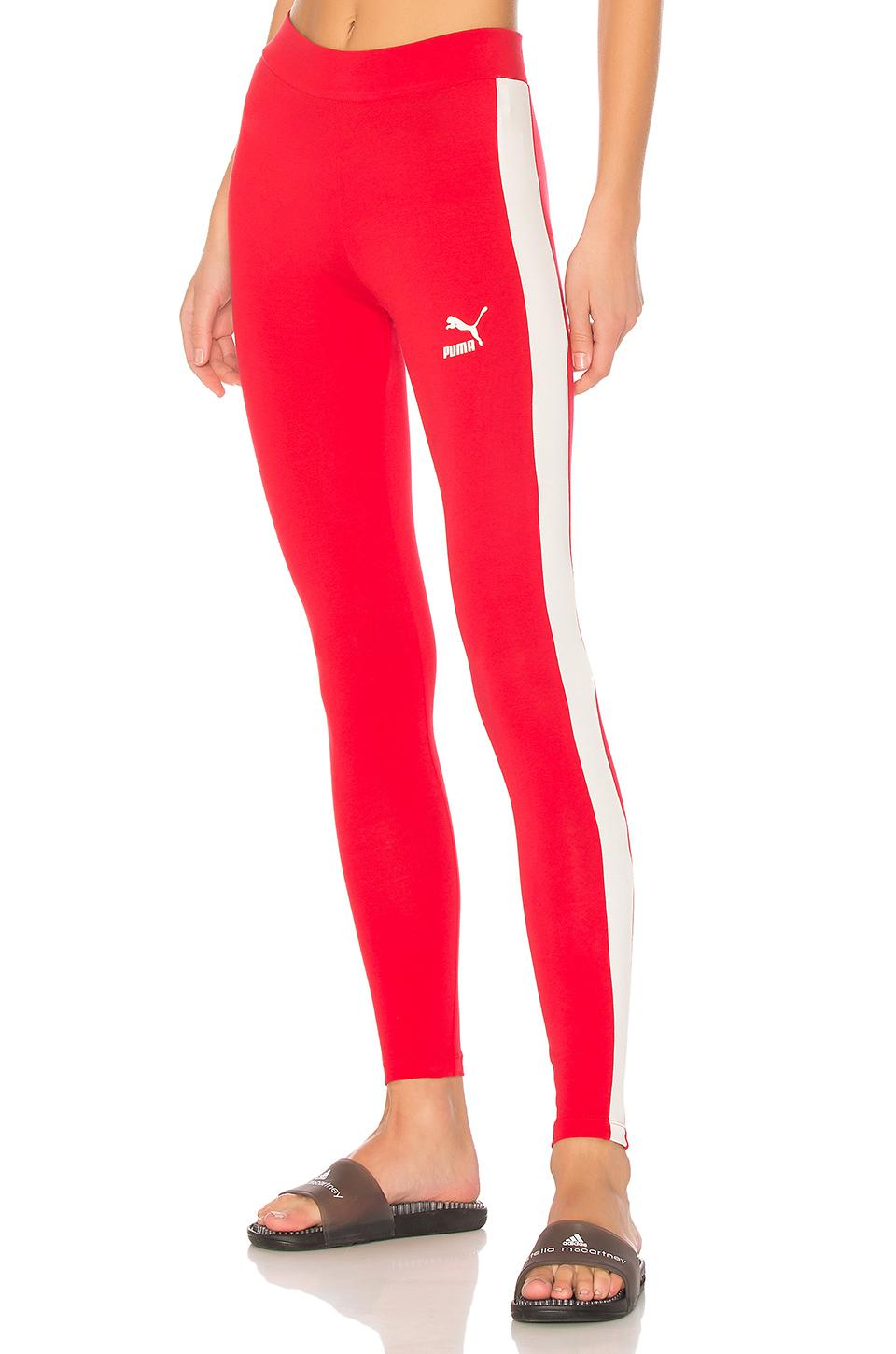 0bb6ed09e8603 PUMA Archive Logo T7 Legging in Red - Lyst