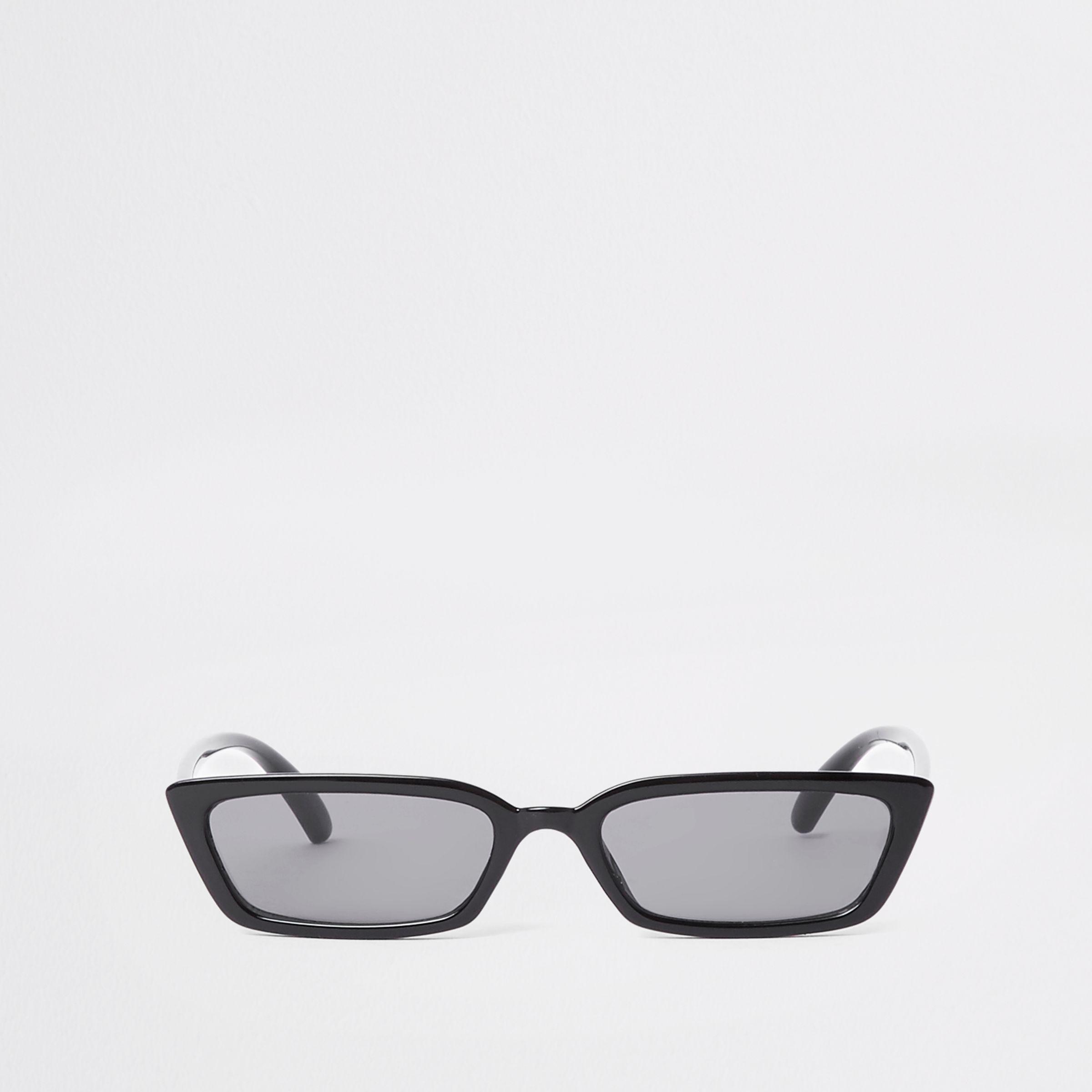 9f25156630c Lyst - River Island Slim Frame Smoke Lens Sunglasses in Black