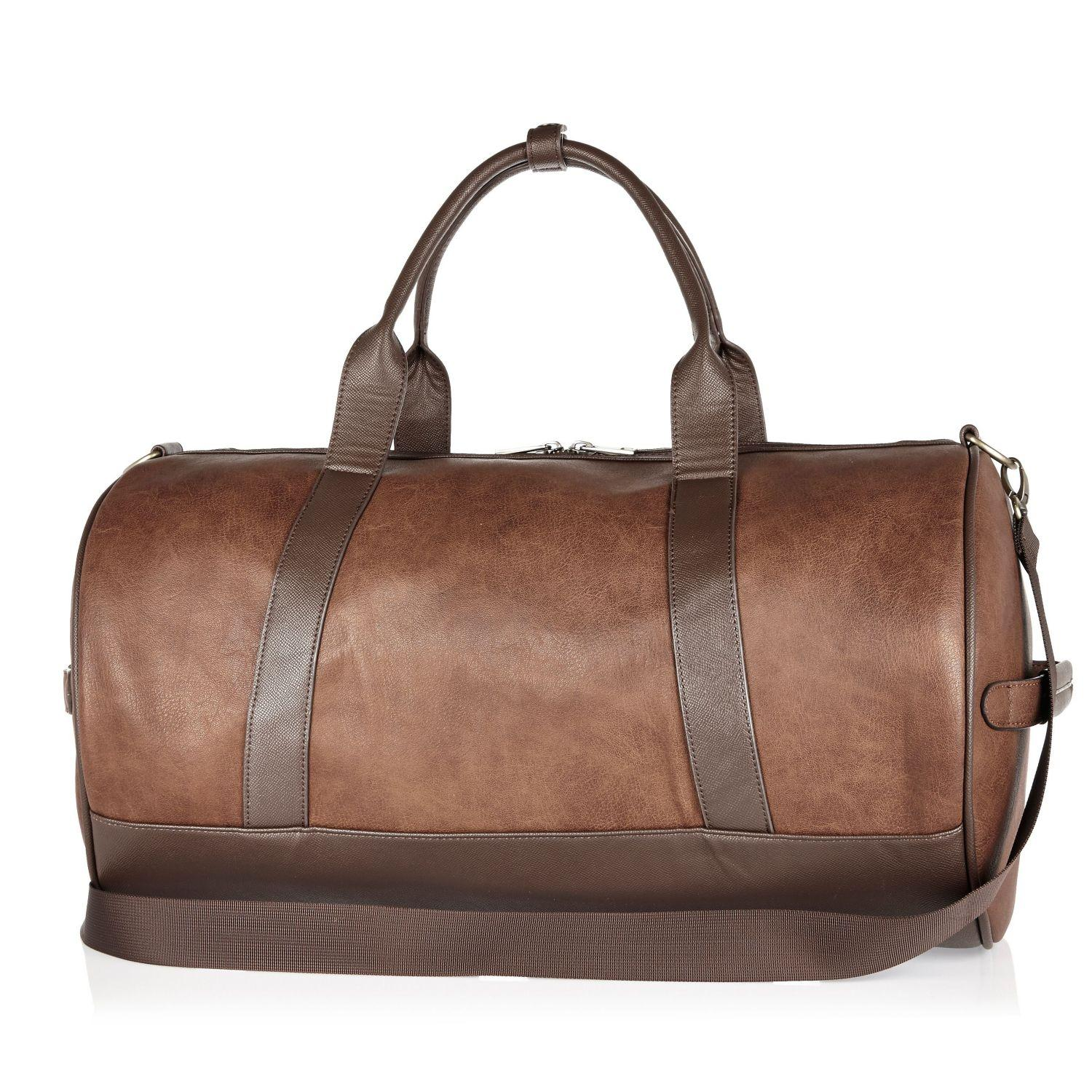 dc4822b5 River Island Light Brown Holdall Bag in Brown for Men - Lyst