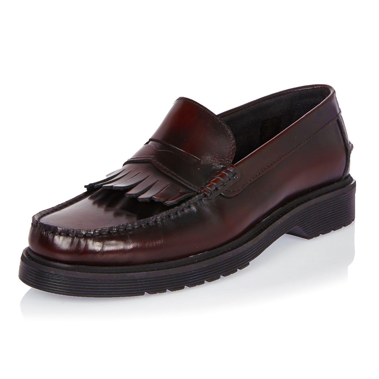 River Island Black Fringe Shoes
