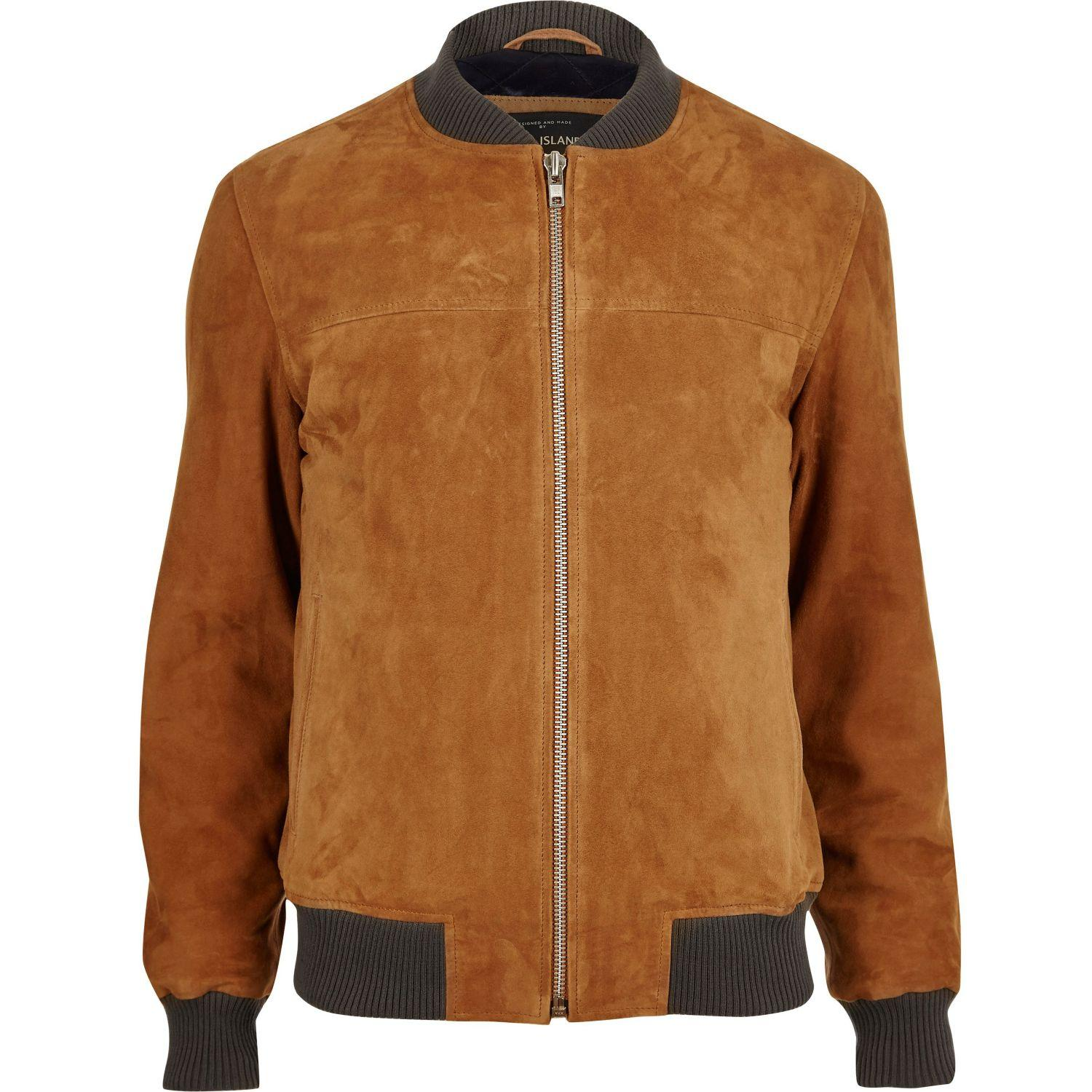 River Island Grey Bomber Jacket