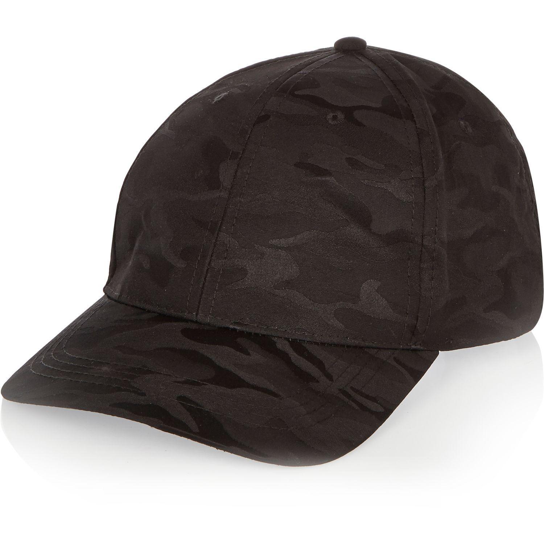 Lyst River Island Black Camo Cap In Black For Men
