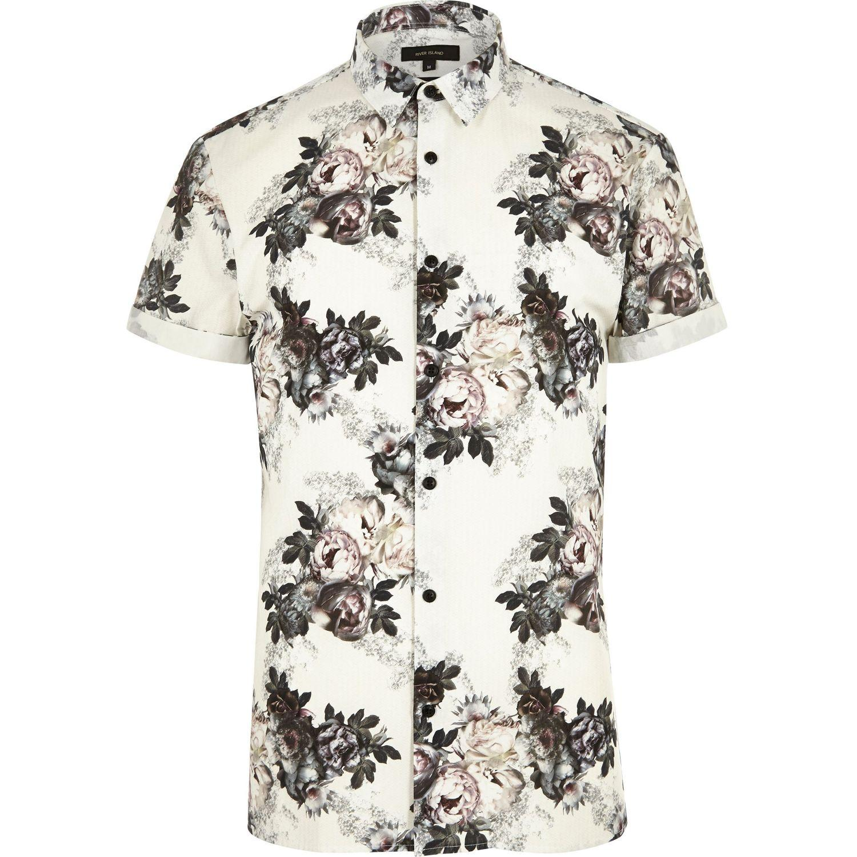 River Island Long Sleeve Floral Shirt
