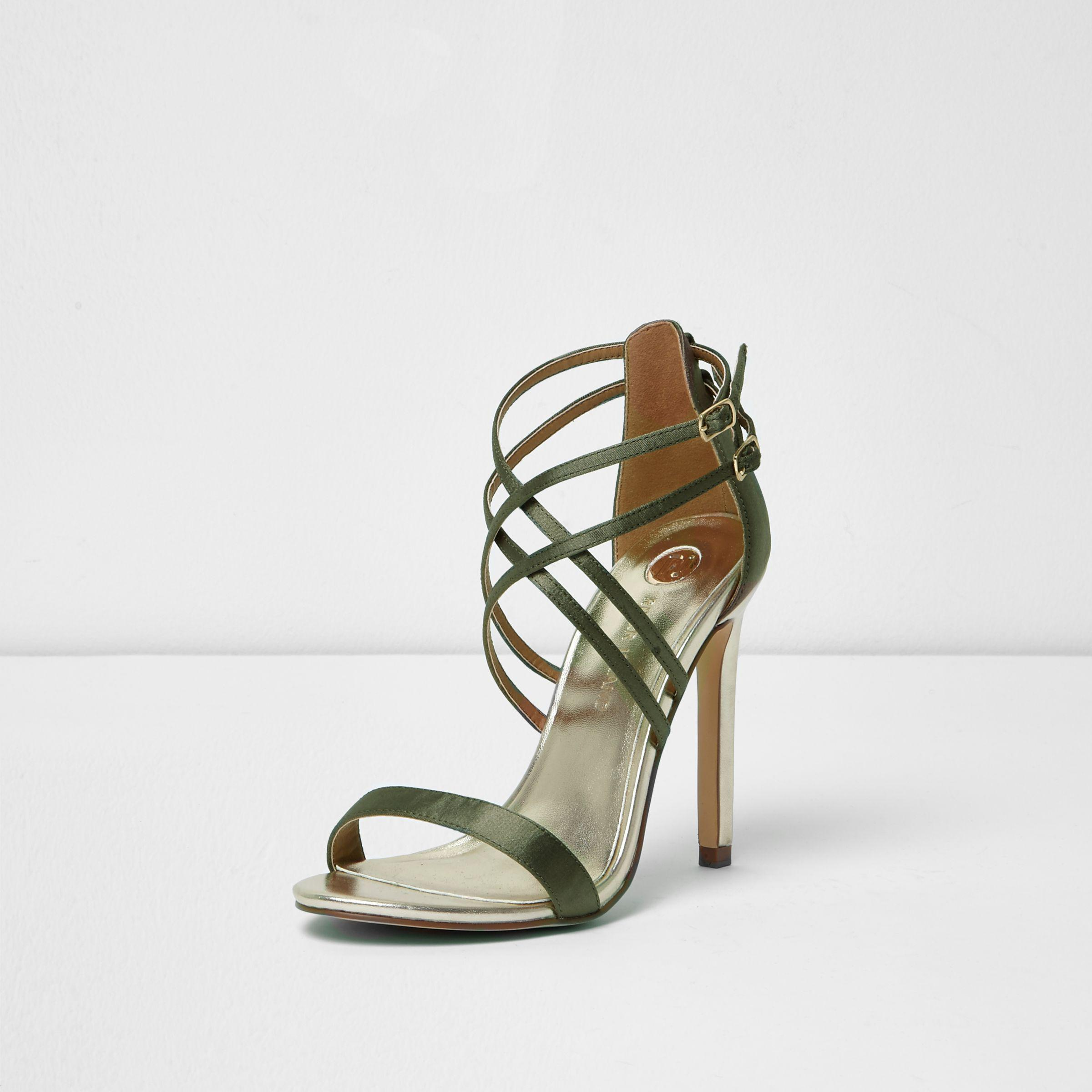Natural River Khaki Green Sandals Wide Caged In Fit Lyst Island WD9IEH2