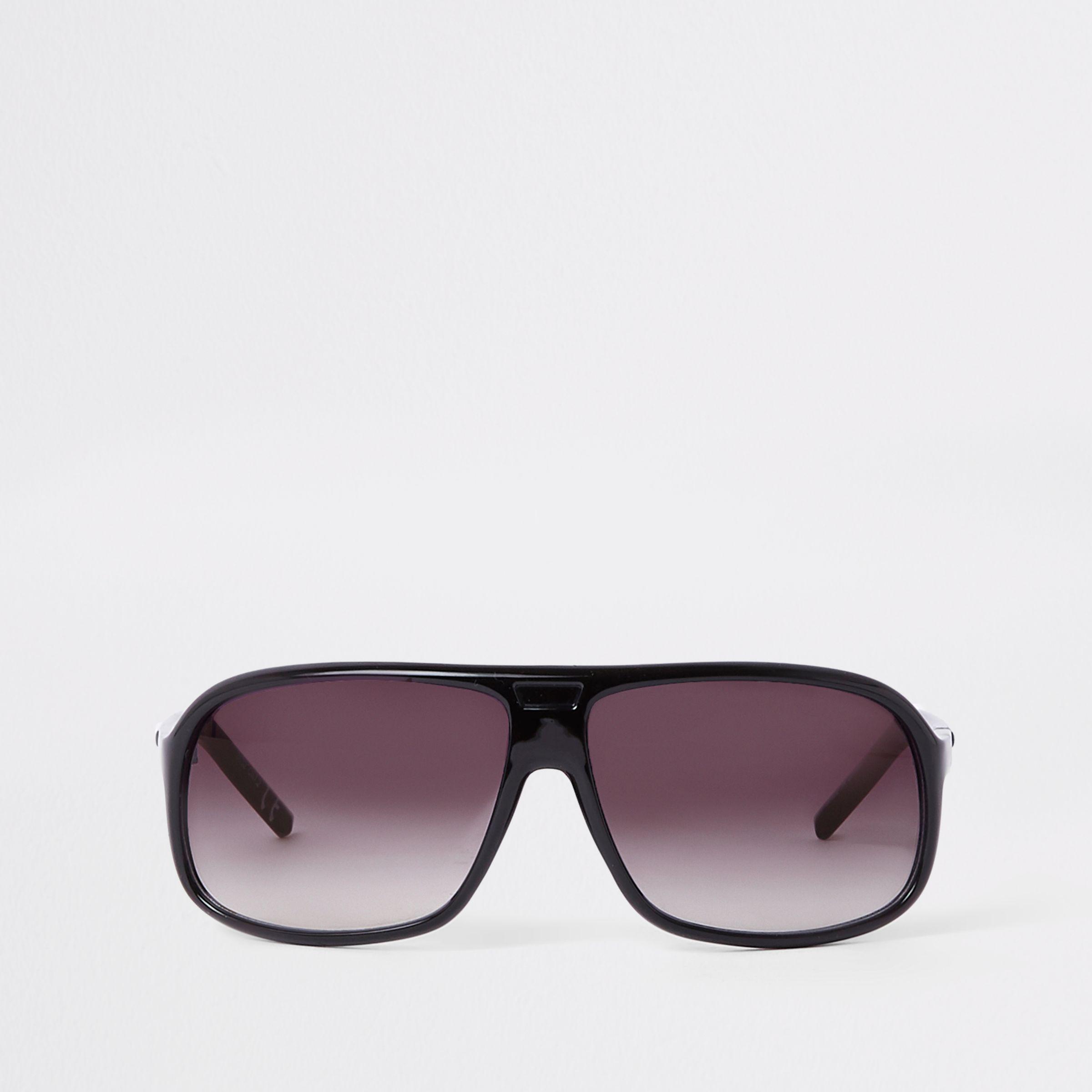 aa27df8c63e6 Lyst - River Island Visor Smoke Lens Sunglasses in Black for Men