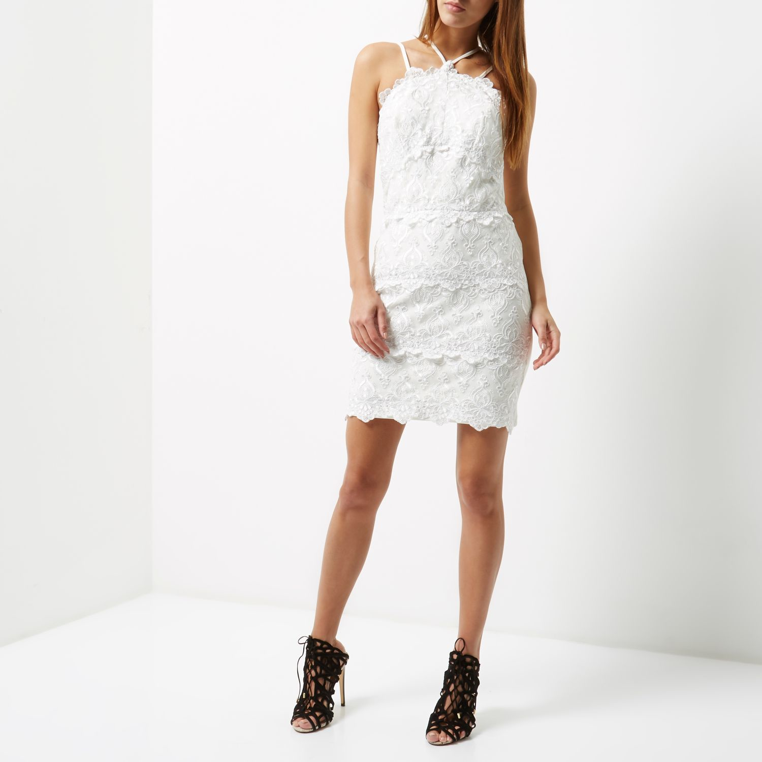 River Island Cream Mini Dress