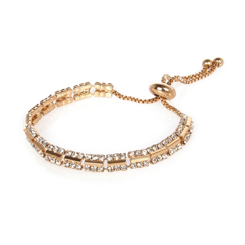 lyst river island gold tone diamant bracelet in metallic