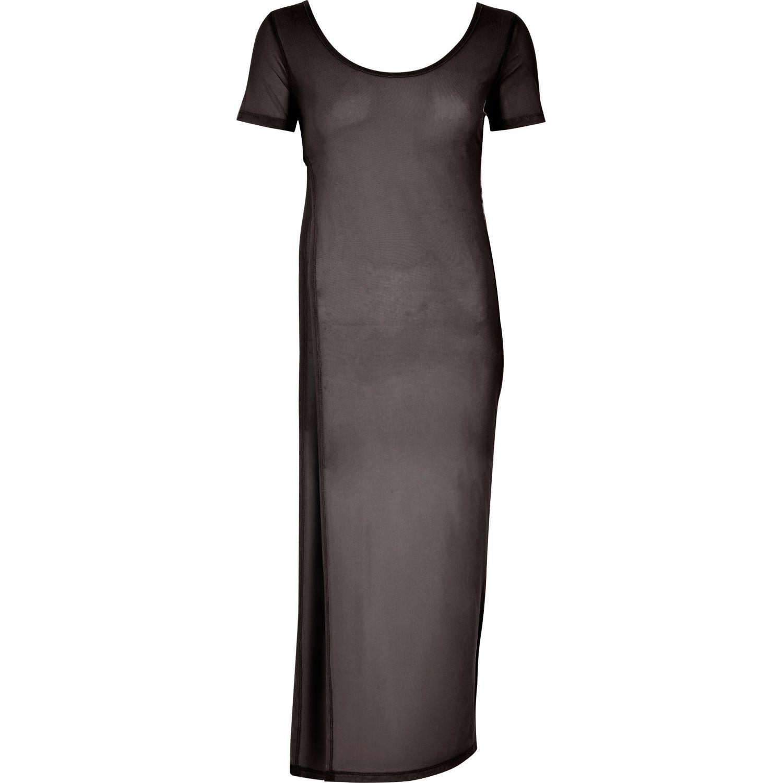 Lyst River Island Black Mesh T Shirt Maxi Dress In Black
