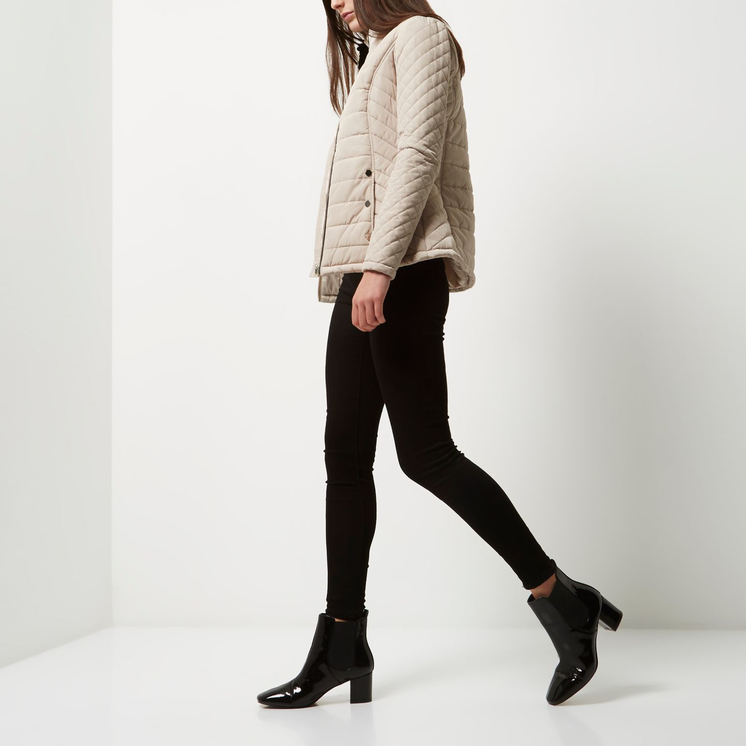 Womens quilted jacket river island
