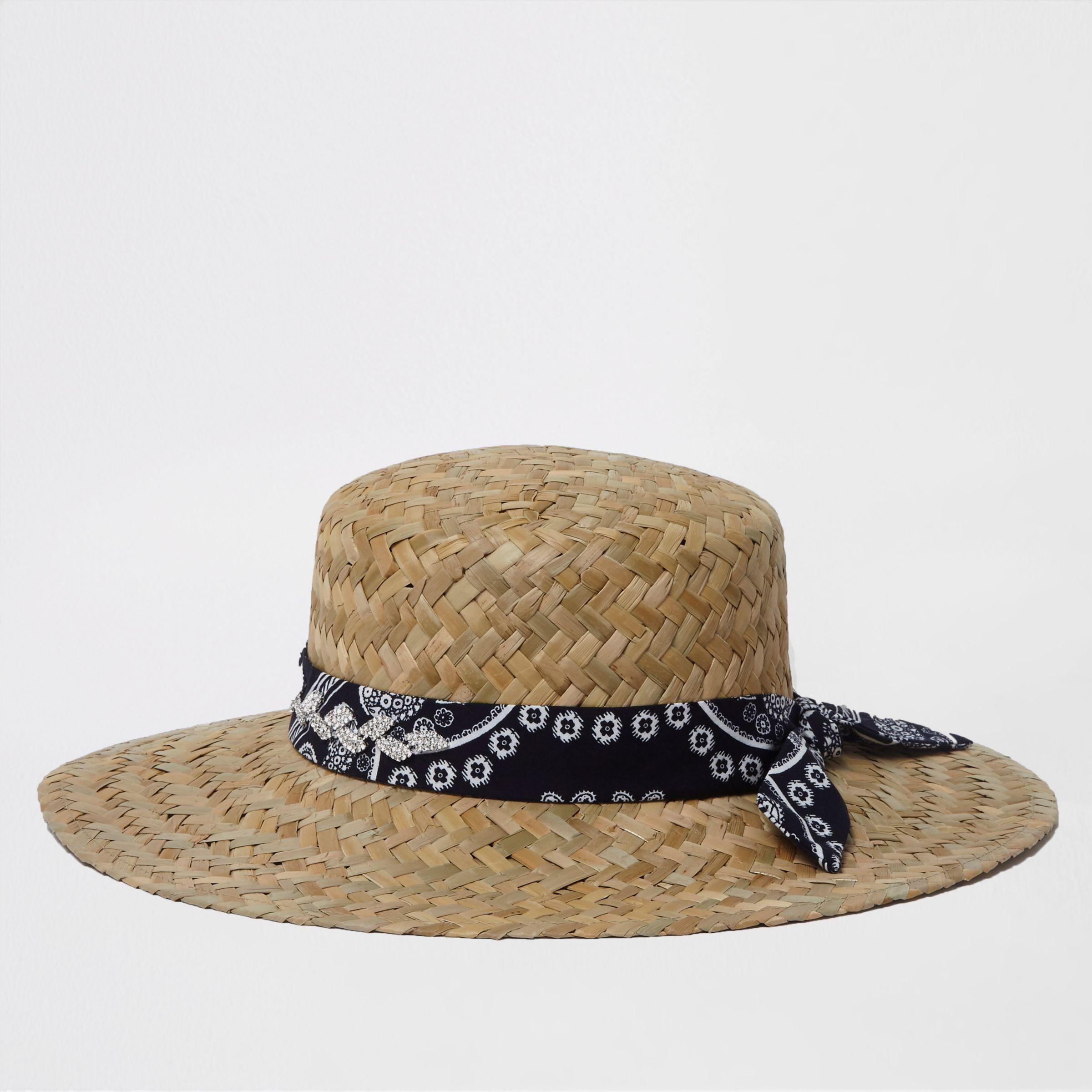 Womens Light Brown chunky weave straw hat River Island Cheap From China Big Sale Cheap Price 100% Authentic Cheap Online Countdown Package Sale Online 8LeB0i8PBh