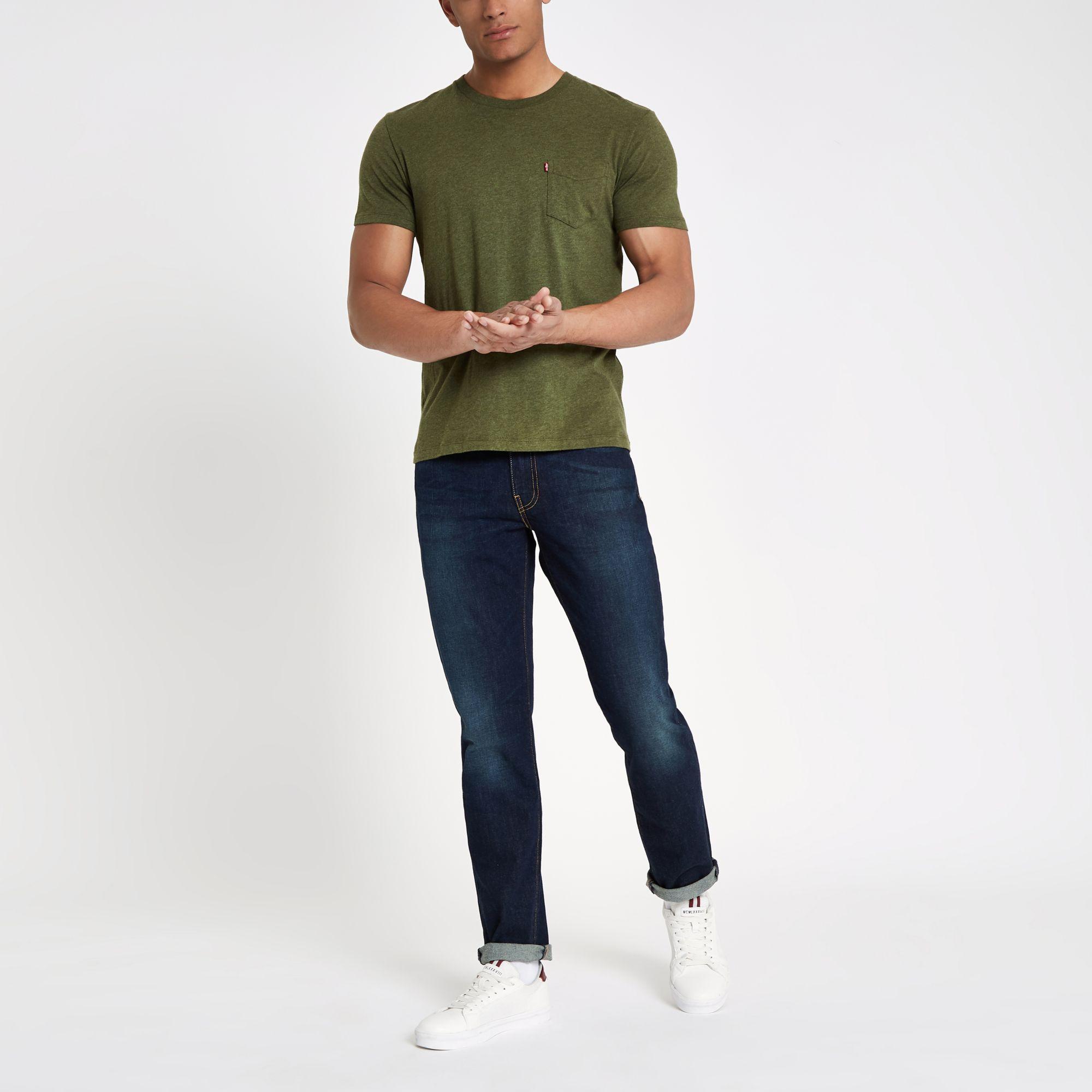 2e5c3f0cc3781e Levi's Dark Blue 511 Slim Fit Jeans in Blue for Men - Lyst