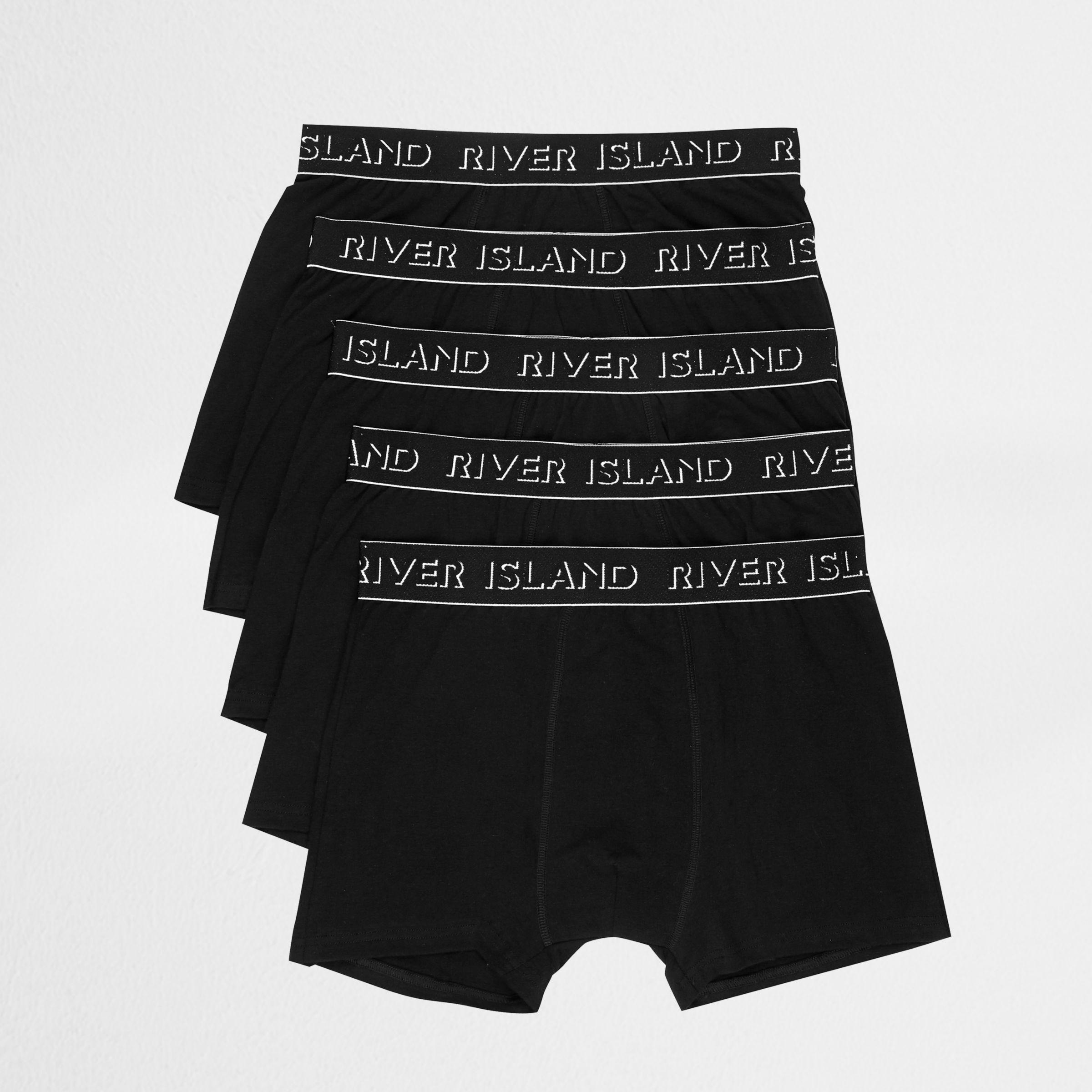 Mens Navy RI branded waistband trunks multipack River Island Deals Online YRa5Wz