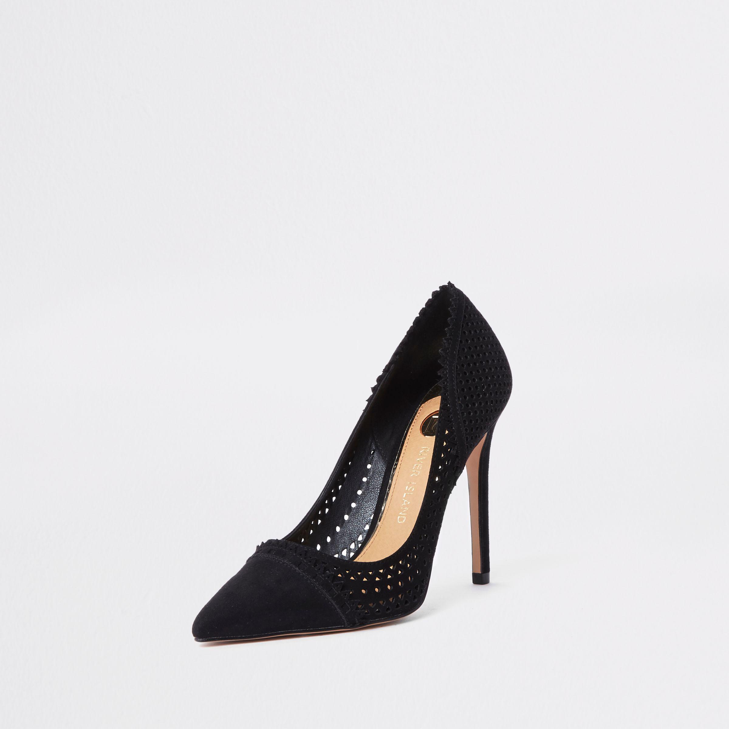 414b302b8d4a River Island Black Court Shoes - Style Guru  Fashion