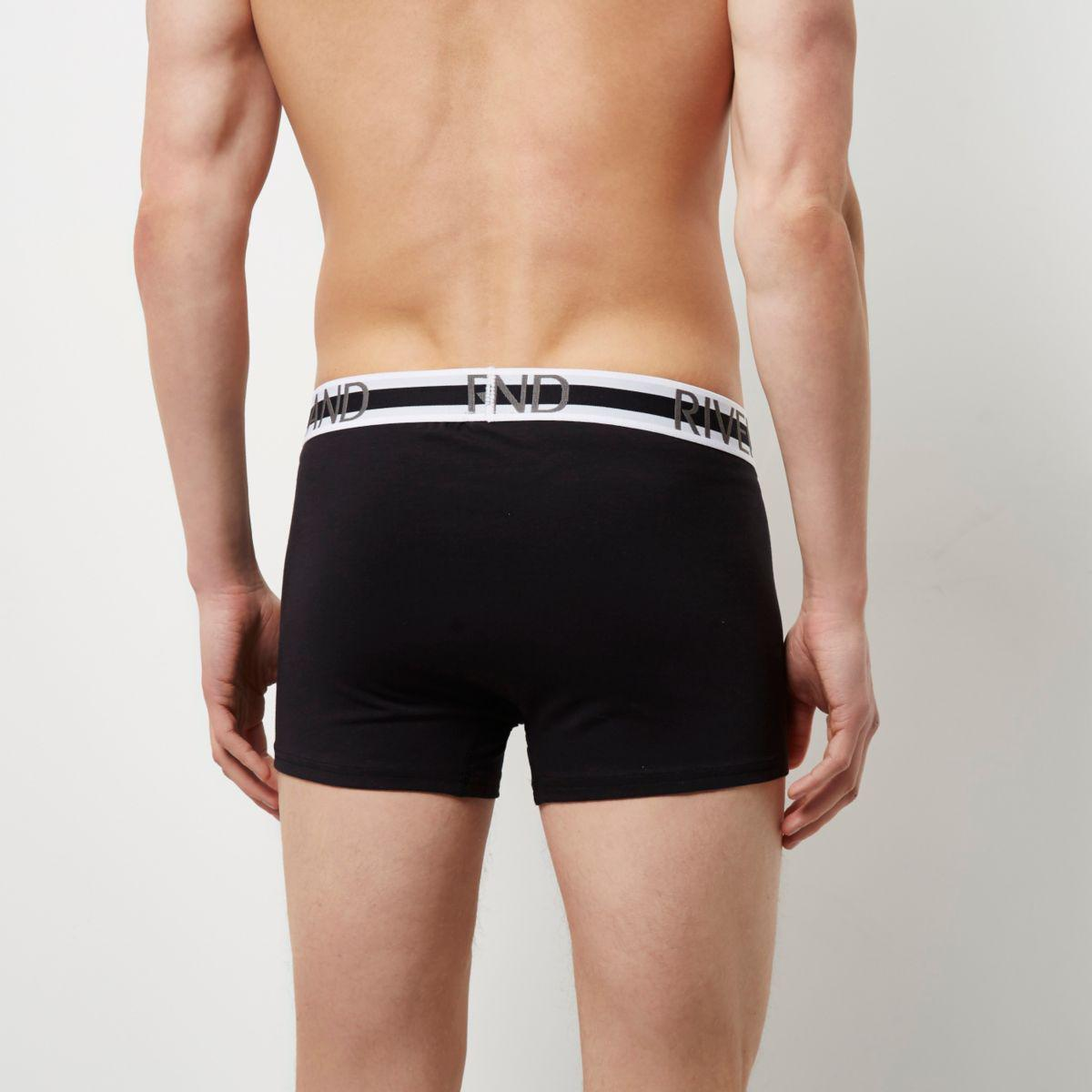 Mens Black and grey RI hipster boxers multipack River Island Outlet Where Can You Find juNJm8fV