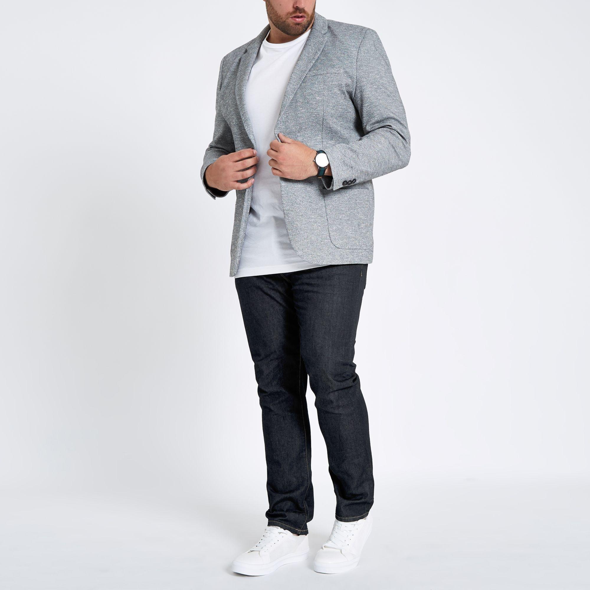 404548ca3ff07d ... Big And Tall Dark Blue Seth Slim Fit Jeans for Men - Lyst. View  fullscreen