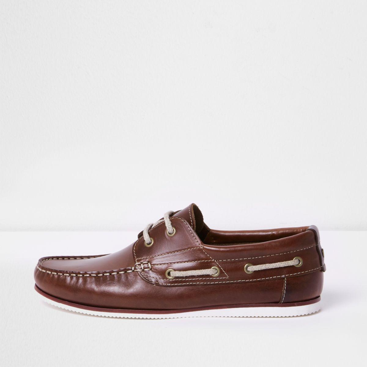 River Island Grey And Blue Boat Shoes