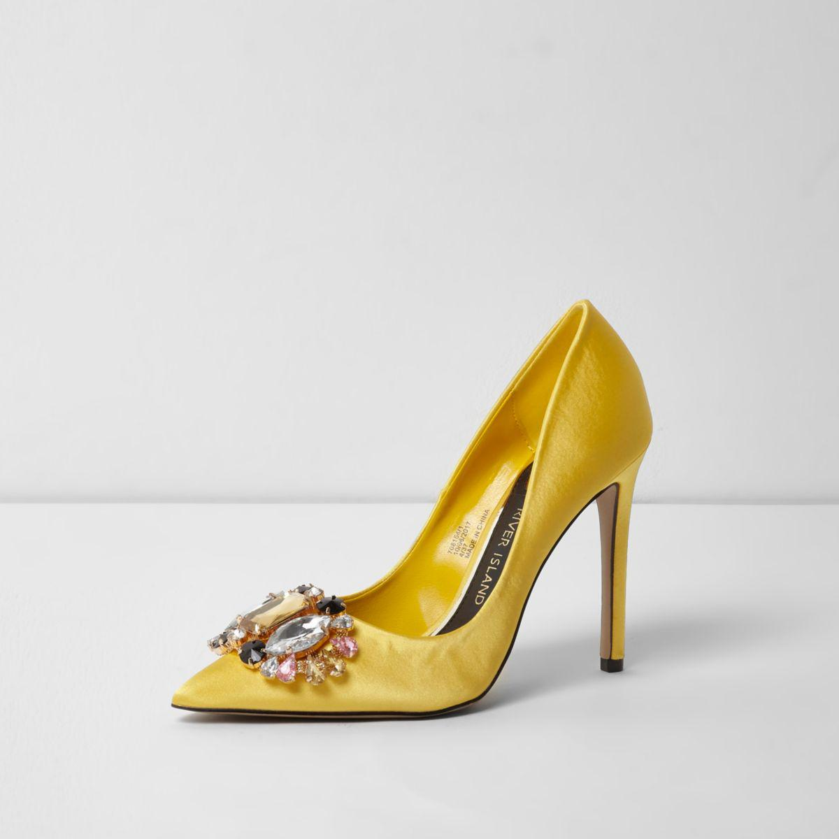 River Island Heeled mules - yellow
