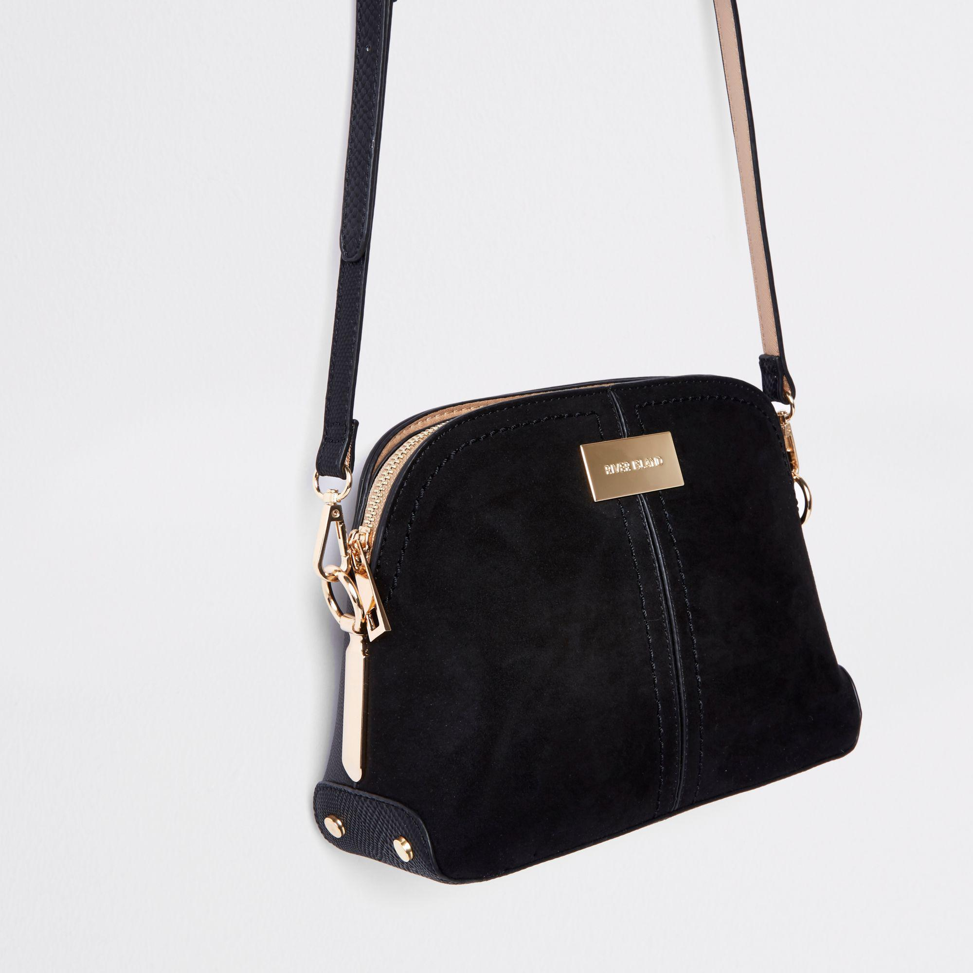 8aeb6432c River Island Kettle Cross Body Bag in Black - Lyst