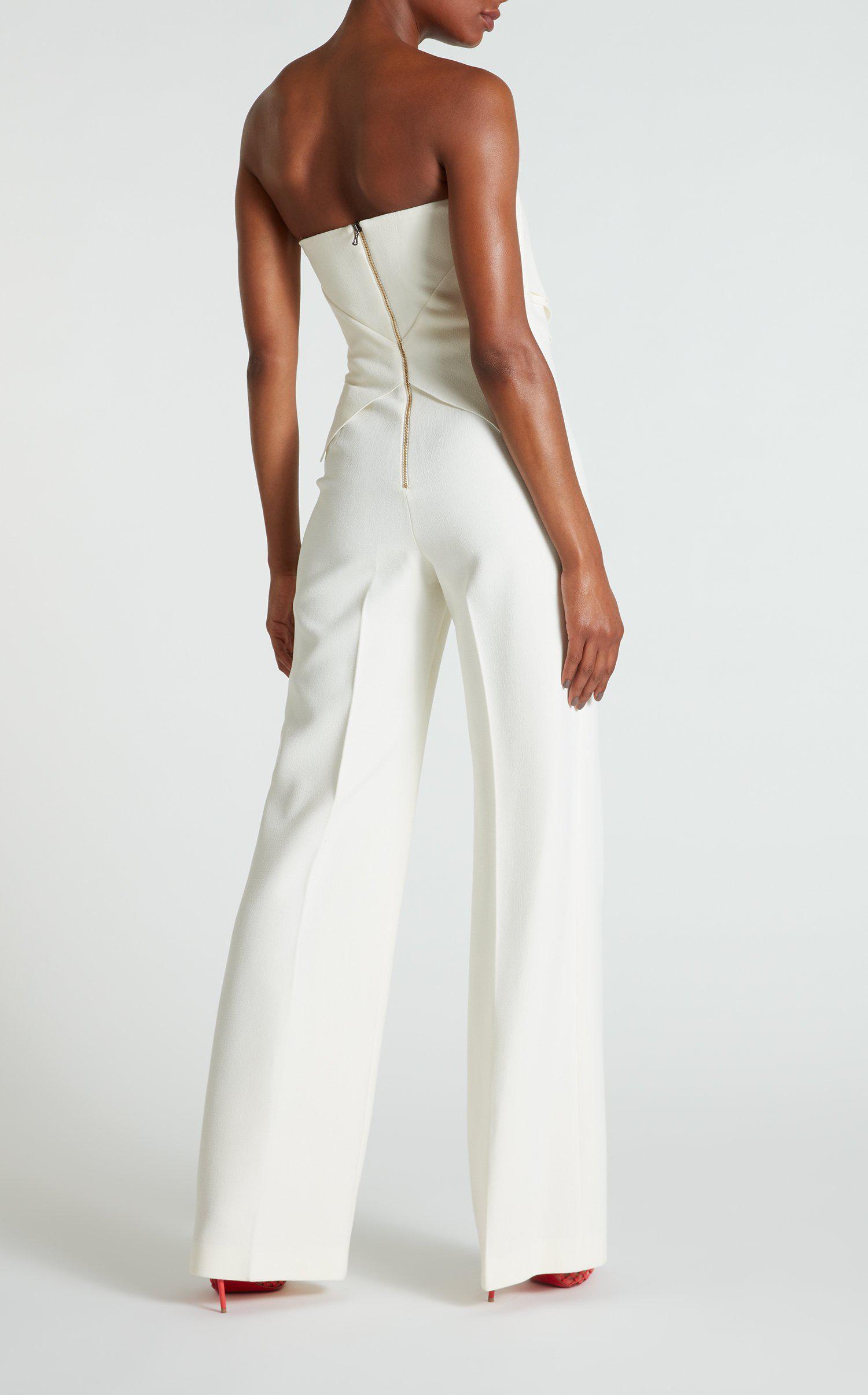 a3bd9457e85d Lyst - Roland Mouret Wickham Jumpsuit in White