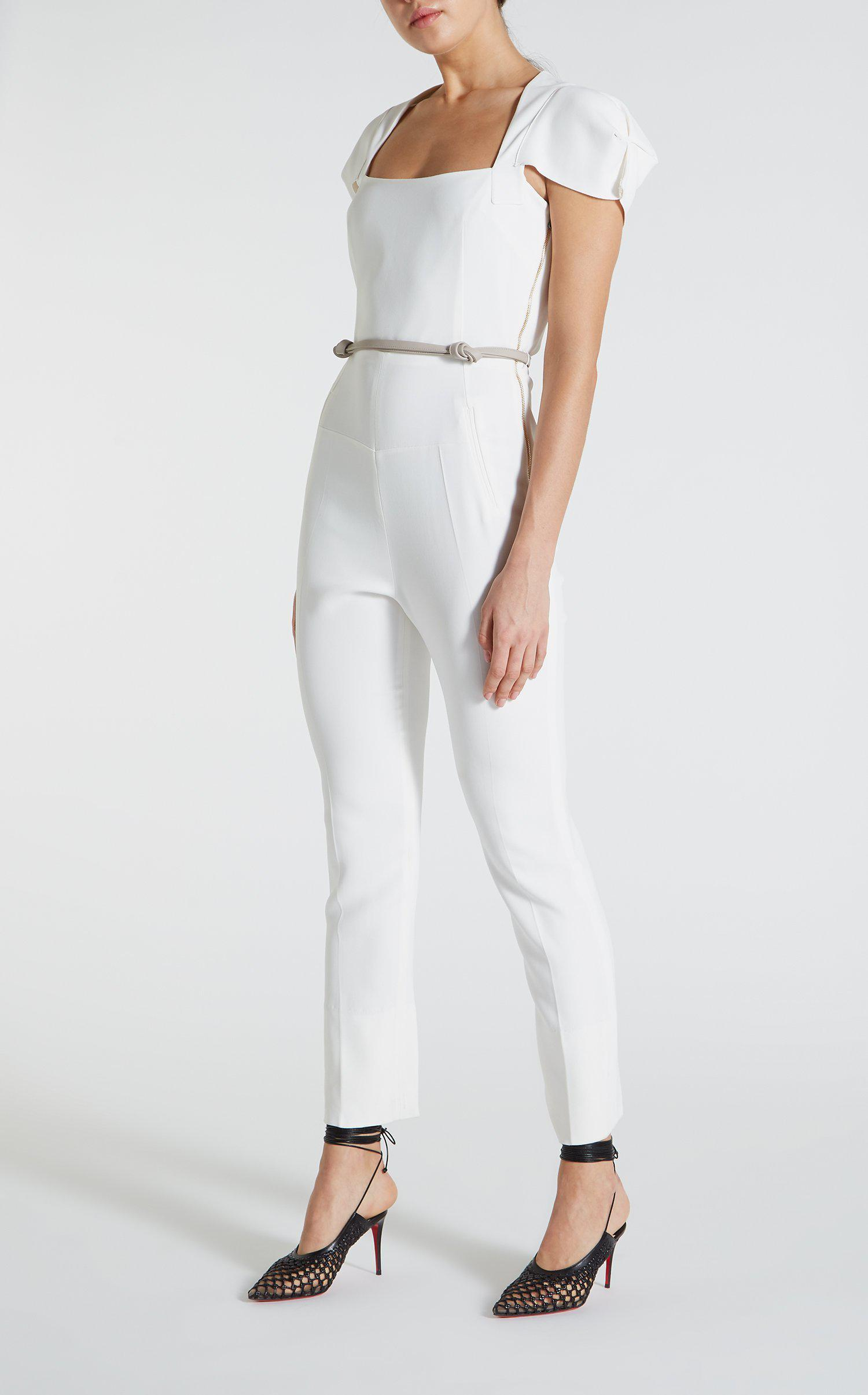af03549f747f Roland Mouret Galaxy Jumpsuit in White - Lyst