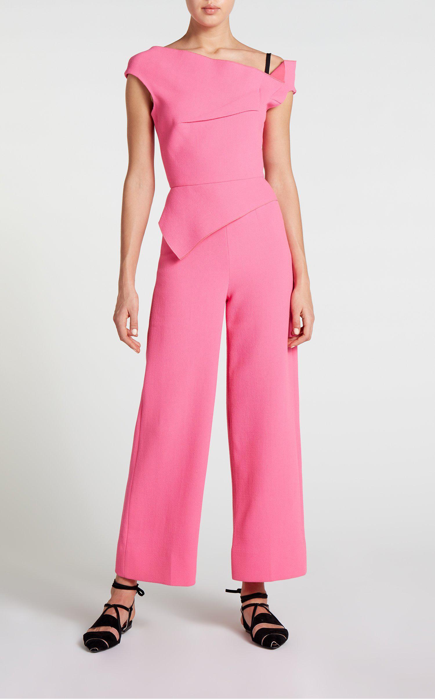 3007f1126629 Roland Mouret Gable Jumpsuit in Pink - Lyst