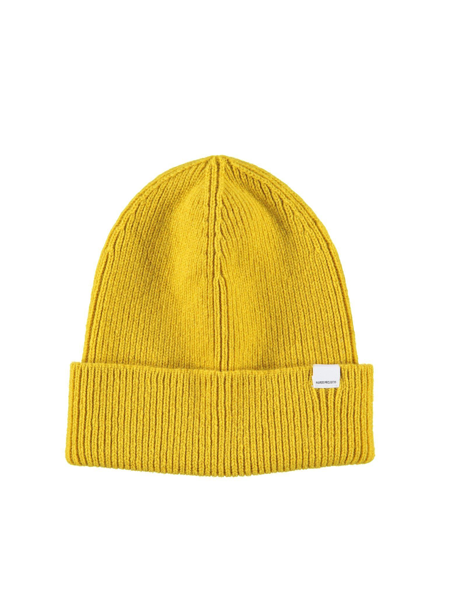 6629dfc7ab9 Lyst - Norse Projects Norse Lambswool Beanie in Yellow
