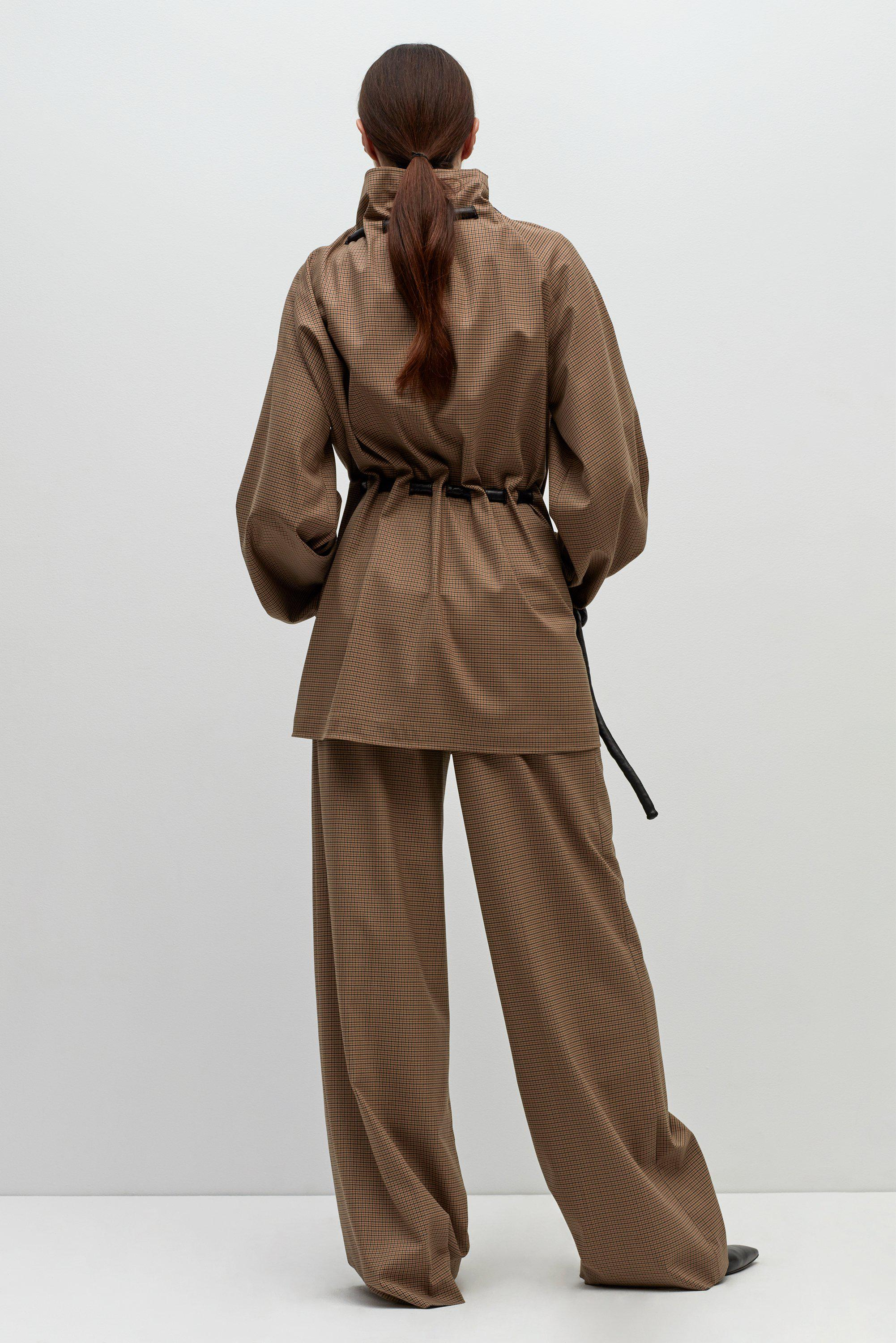 Jacket Getty Drawstring Lyst Brown Corded In Rosetta zIqWfHTF 9554bbe79bc