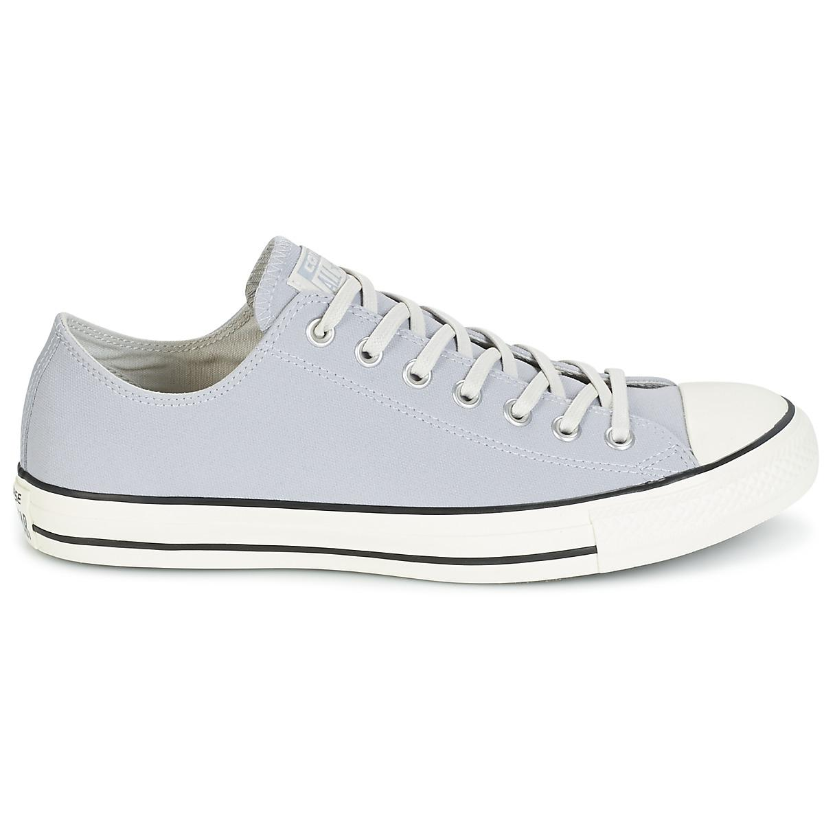 8e70db31057702 Converse Chuck Taylor All Star Coated Leather Ox Wolf Grey black ...