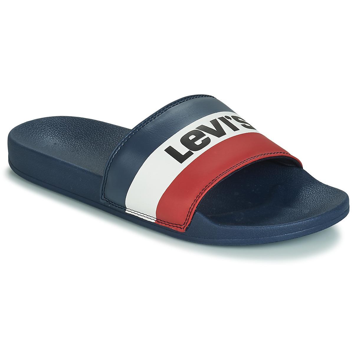 183e4f443e42 Levi s June Sportswear Flip Flops in Blue for Men - Save 55% - Lyst