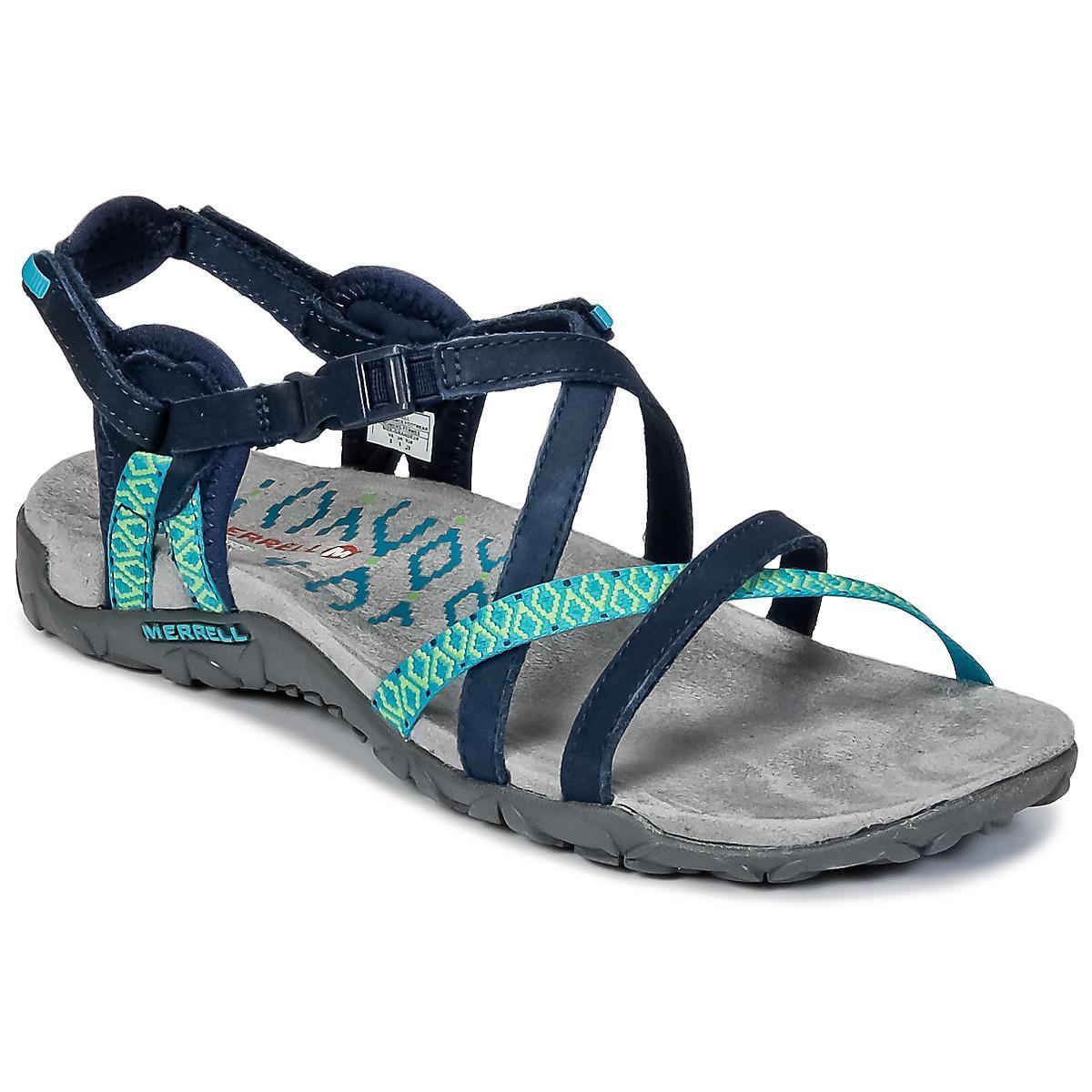 3cc14a093faf Merrell - Blue Terran Lattice Ii Sandals - Lyst. View fullscreen