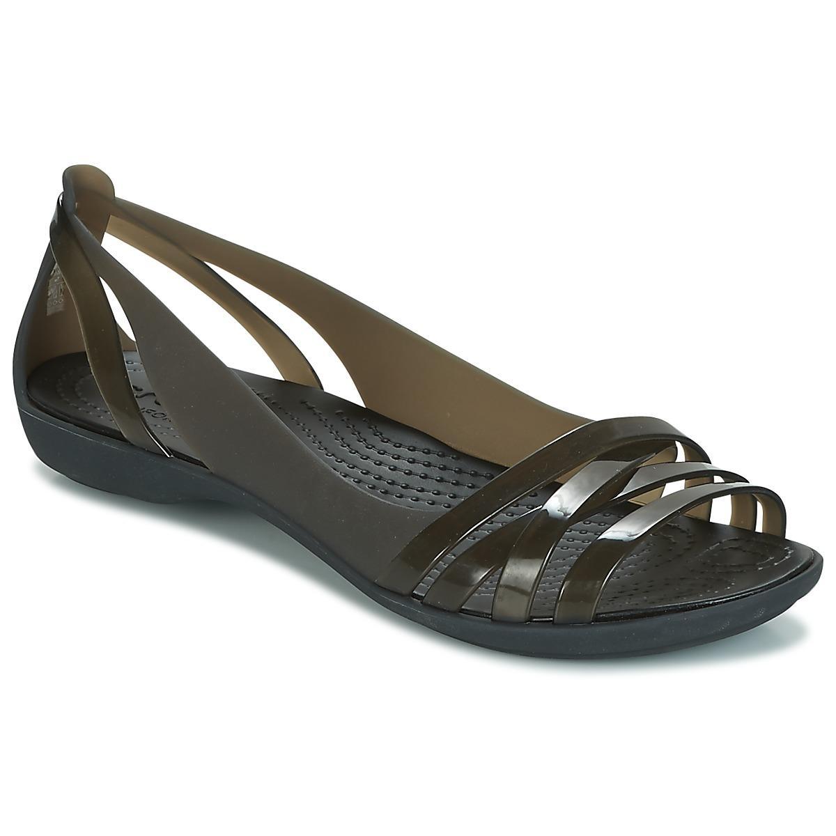 ba31caee9 Crocs™ Isabella Huarache 2 Flat W Sandals in Black - Save 18% - Lyst