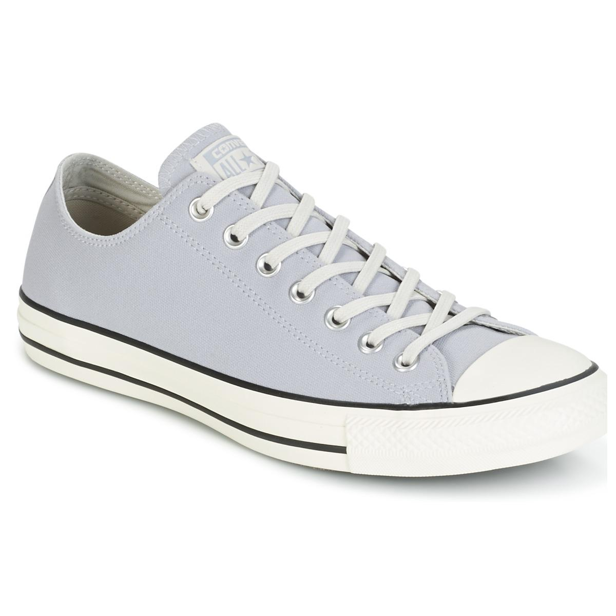 2c4778c728f6 Converse Chuck Taylor All Star Coated Leather Ox Wolf Grey black ...