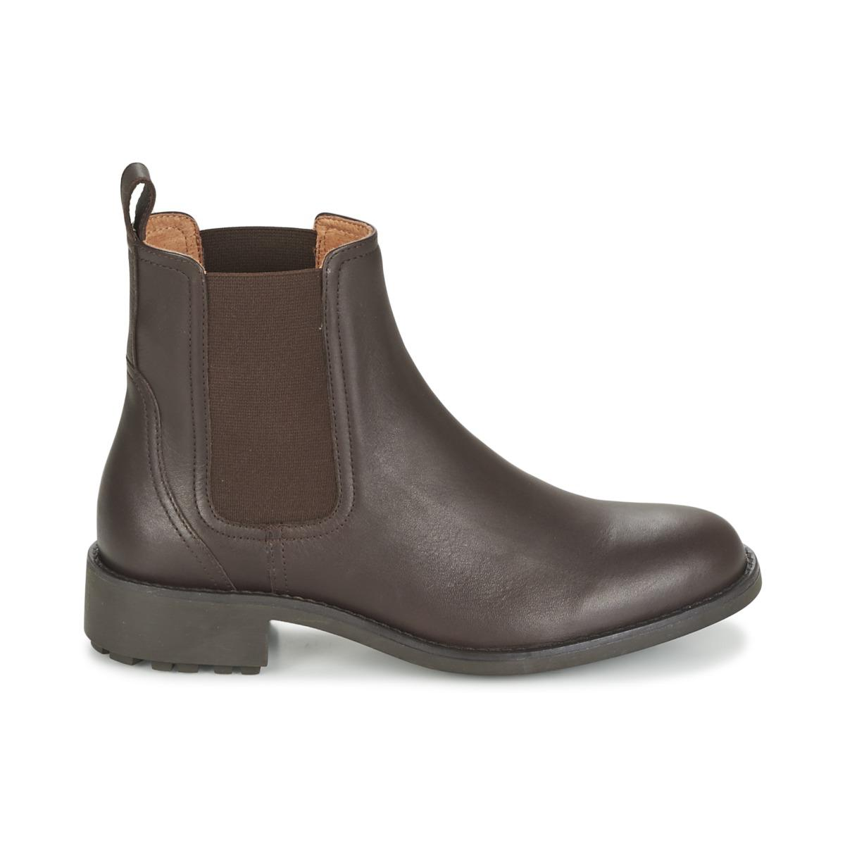 Aigle Leather Chante Chelsea Women's Low Ankle Boots In
