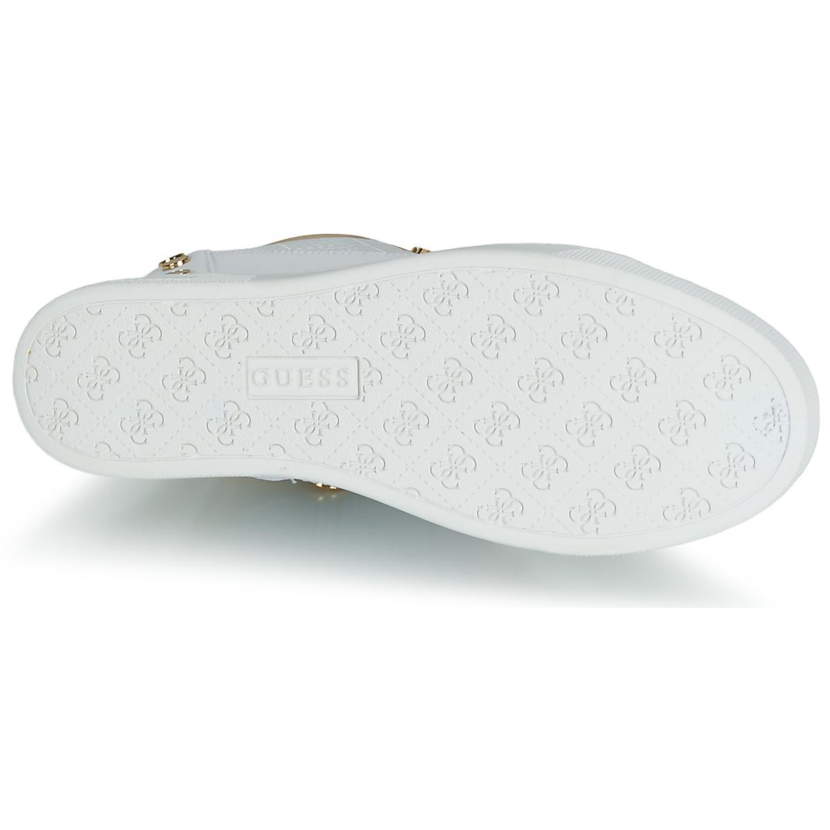 fe69d8d1fb9cd Guess Finly Women s Shoes (high-top Trainers) In White in White - Lyst