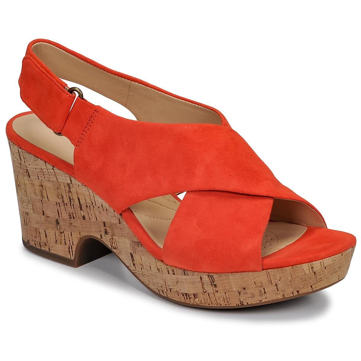 3ab939d49bf7f2 Clarks Maritsa Lara Sandals in Orange - Lyst
