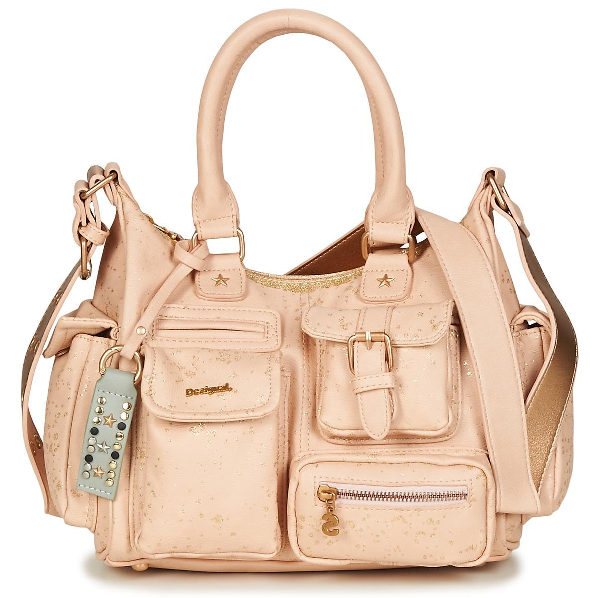 01edc9ba378 Desigual Metallic Splatter London Shoulder Bag in Pink - Lyst