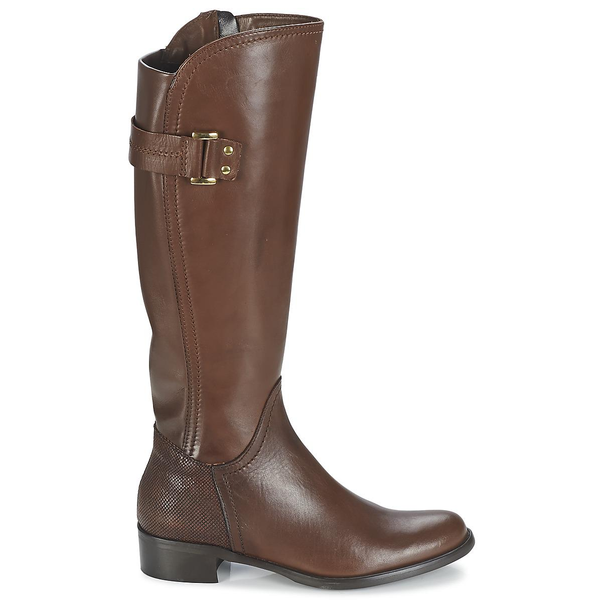 High Brown Santosa Moda In Lyst Pelle in Boots w8ATgqH