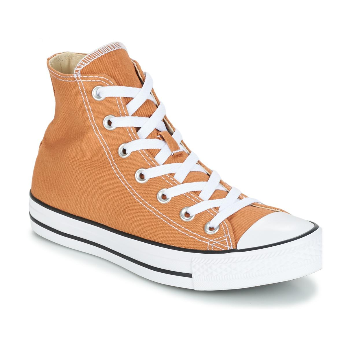 dfba47305590 Converse Chuck Taylor All Star Seasonal Color Hi Raw Sugar Shoes (high-top  Trainers) in Yellow - Lyst