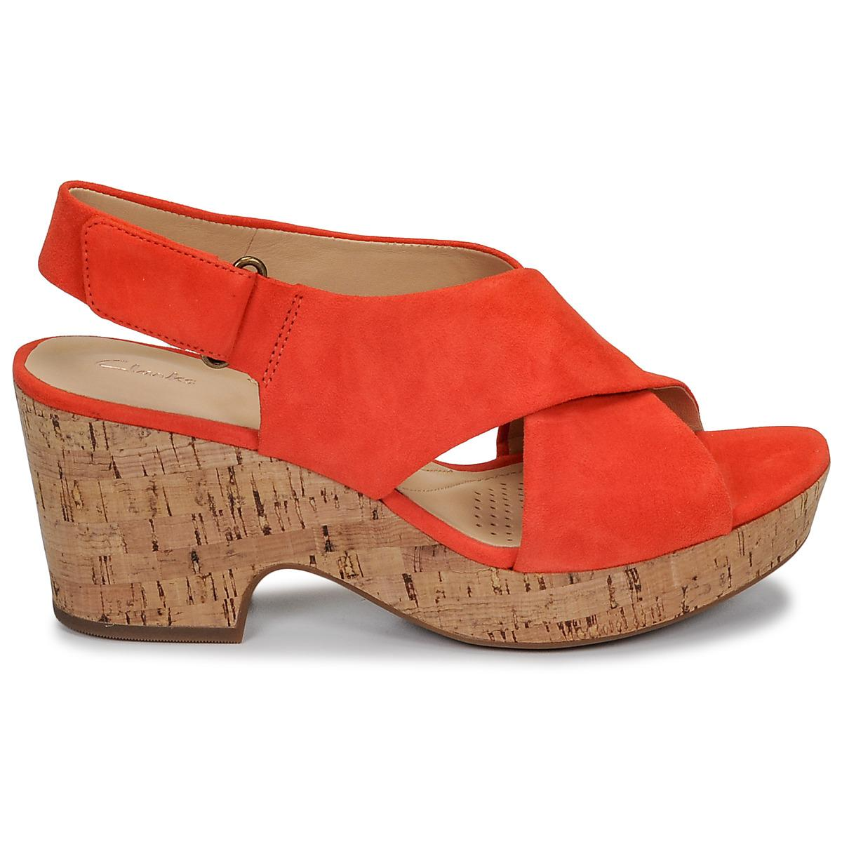 25b8838ed60c95 Clarks - Orange Maritsa Lara Sandals - Lyst. View fullscreen