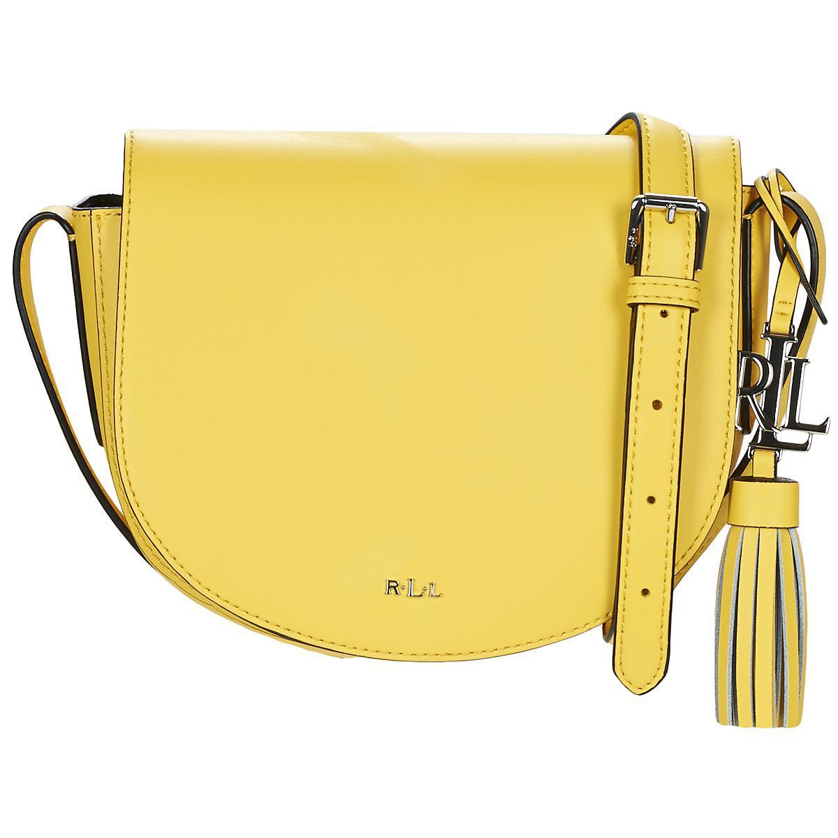 c97fb4a15127 Ralph Lauren Dryden Caley Mini Saddle Shoulder Bag in Yellow - Lyst
