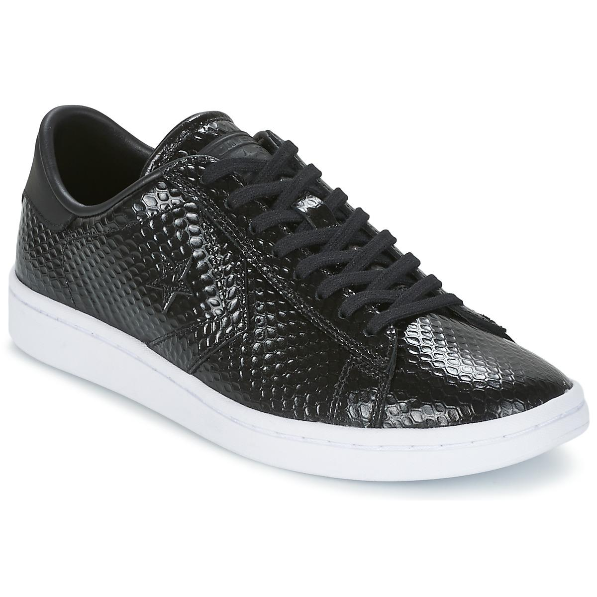 f355567fcc51 Converse Cons Snake Skin Ox Shoes (trainers) in Black - Lyst