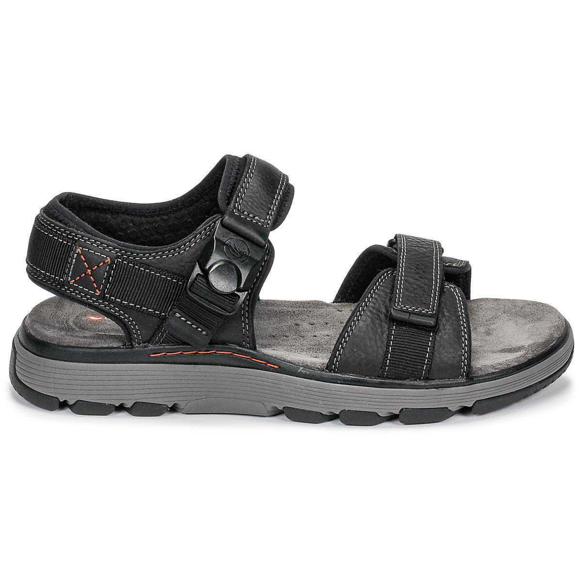 a09278012555 Clarks - Black Un Trek Part Sandals for Men - Lyst. View fullscreen