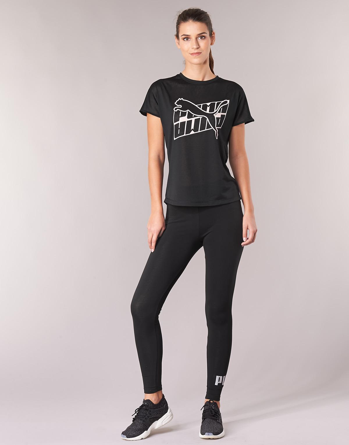 c82dda2412a102 PUMA - Ess Logo LEGGING Women's Tights In Black - Lyst. View fullscreen