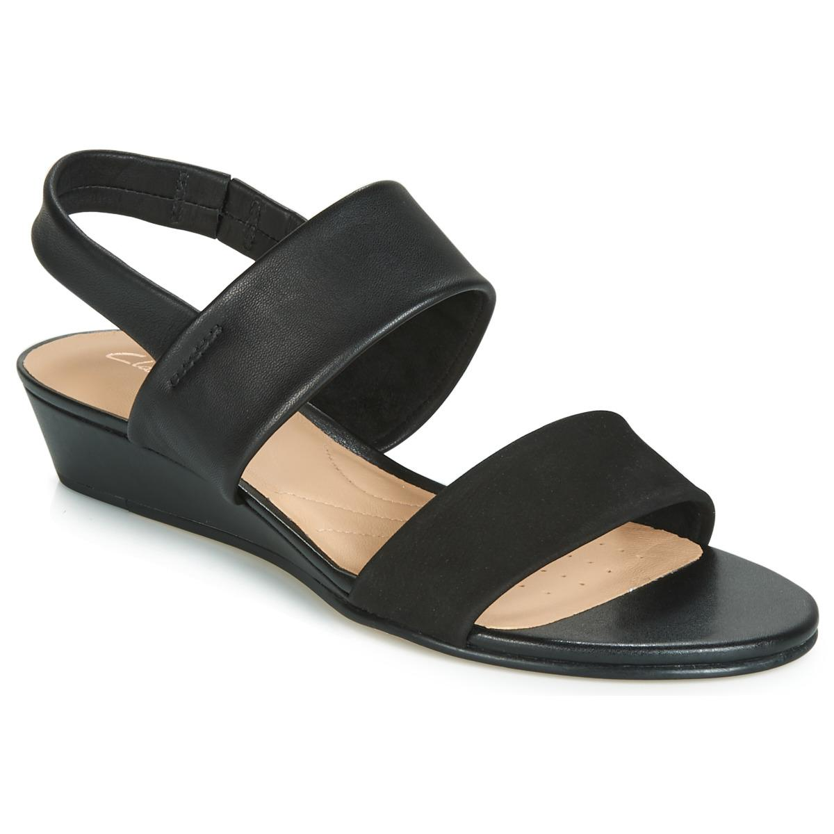 10dc02e6a78e Clarks Sense Lily Sandals in Black - Lyst