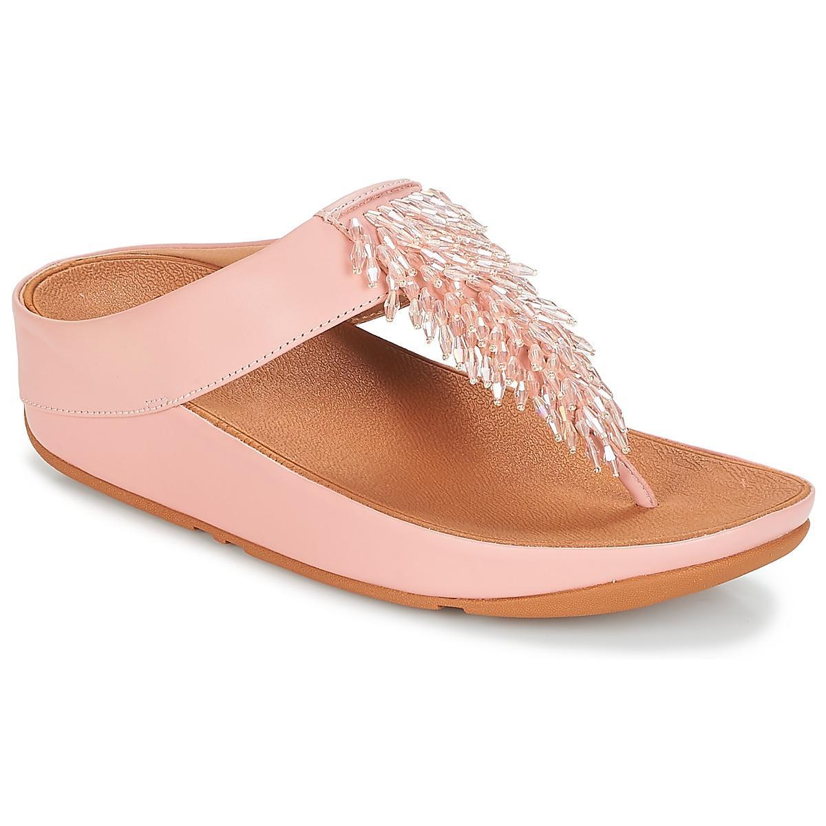 a4f4d1e656177 Fitflop Cha-cha Toe-thong Sandals Crystal Women s Flip Flops ...