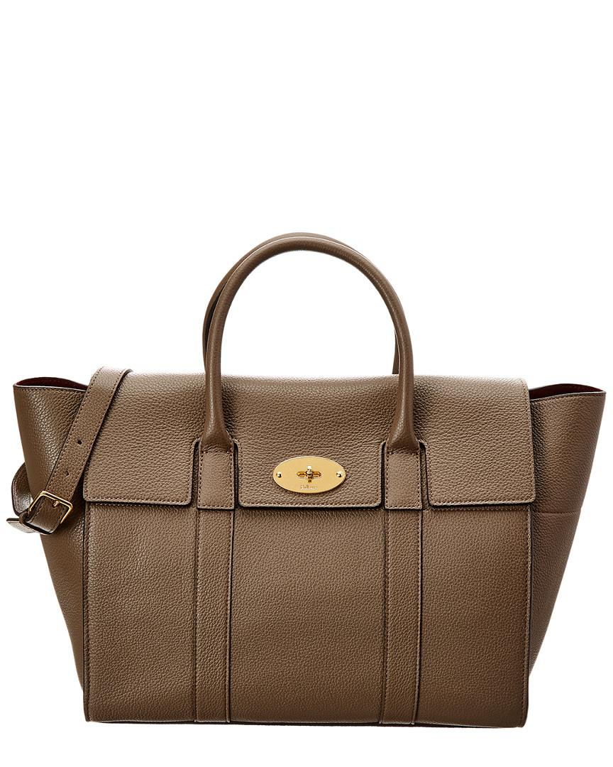 f2c9d997bc1f Lyst - Mulberry Small Bayswater Leather Satchel in Brown