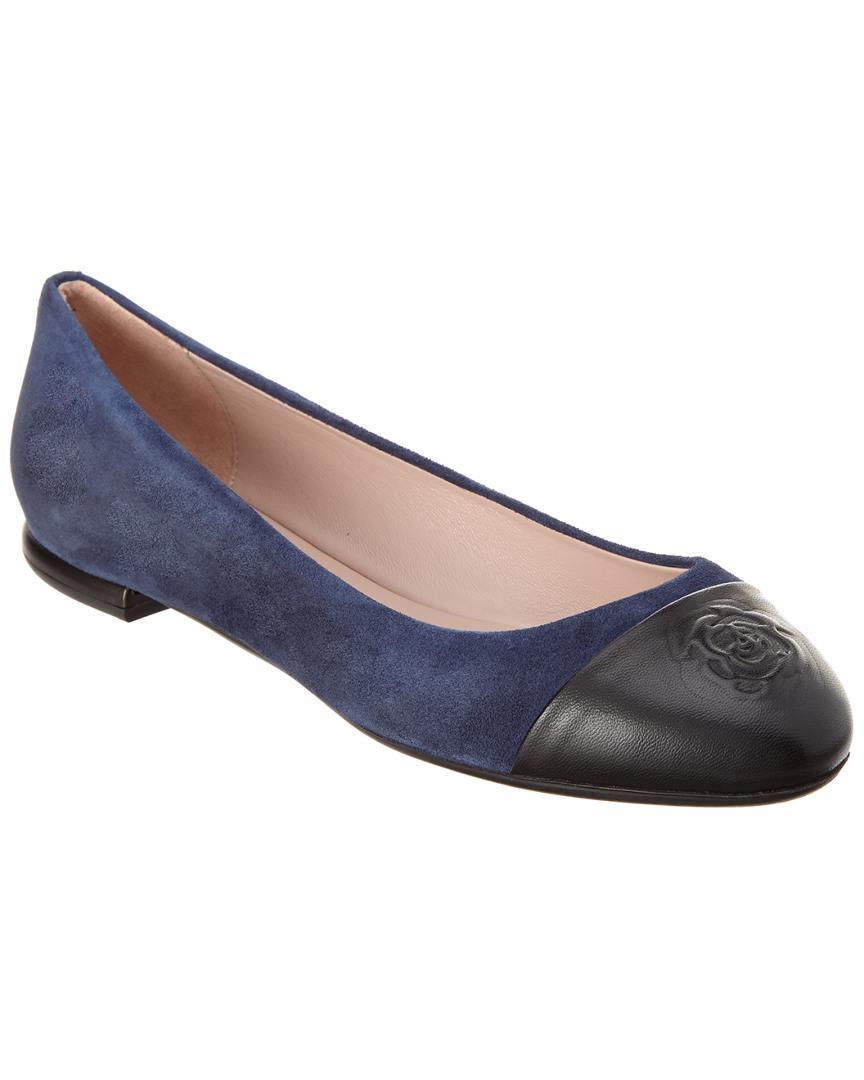4f5000fbf46 Lyst - Taryn Rose Rosa Suede Flat in Blue - Save 60.317460317460316%