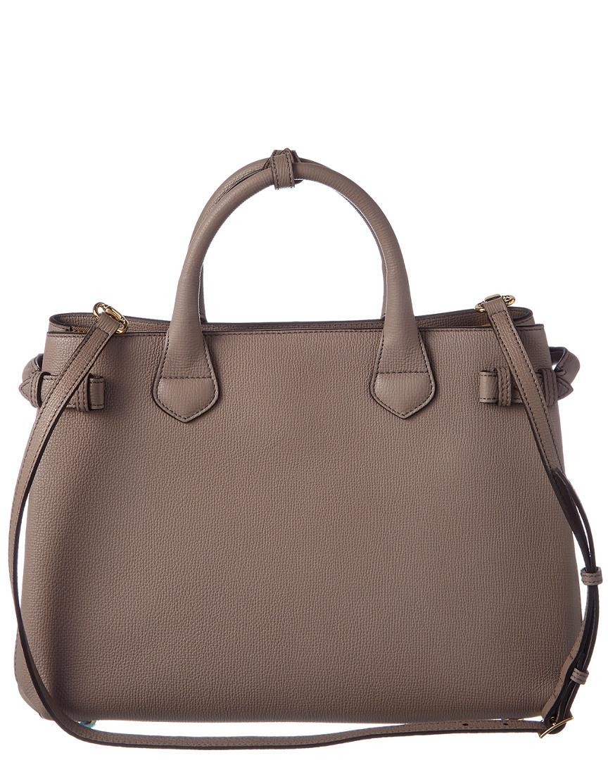 7c08c7309c4b Lyst - Burberry Medium Leather House Check Tote in Brown