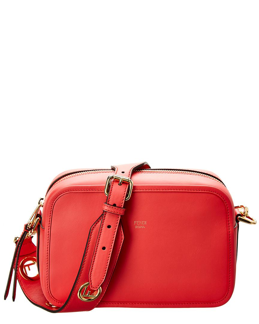 79437ee08813 Fendi Logo Leather Camera Bag in Red - Save 0.13123359580052352% - Lyst