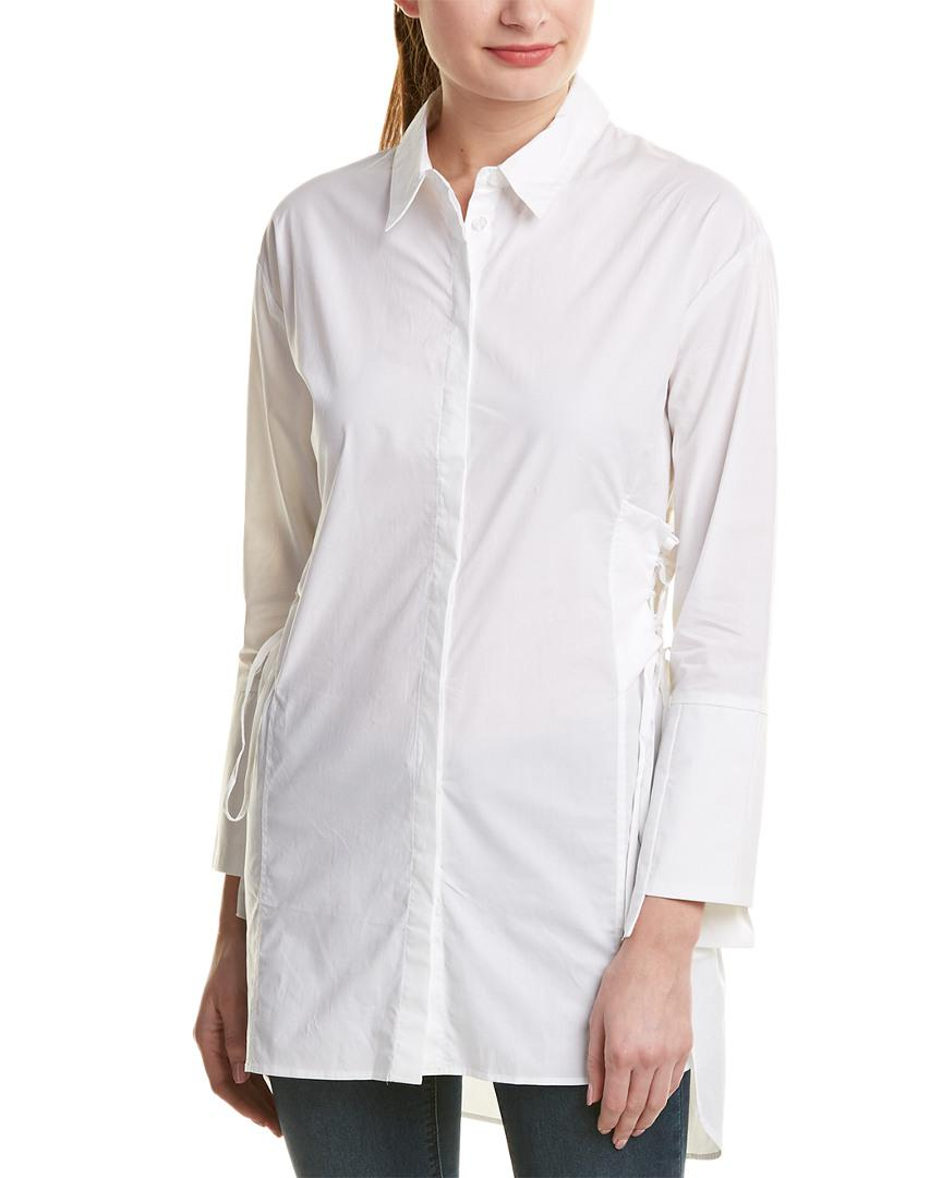 ec8ede9a43414 Lyst - Bardot Corset Shirt in White - Save 51%